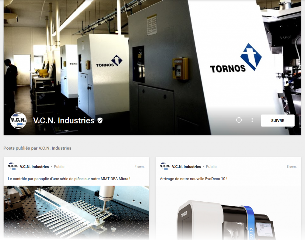Page google+ VCN Industries